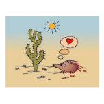 Amour de porc-épic carte postale