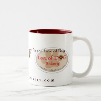 Amour de tasse de boulangerie de chien