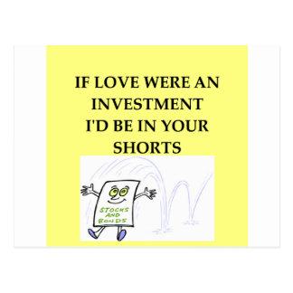 amour de Wall Street Carte Postale