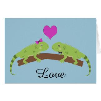 Amour d'iguane carte de correspondance