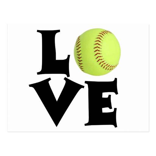Amour du base-ball carte postale
