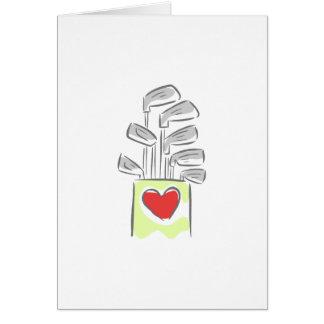 Amour du golf cartes de vœux