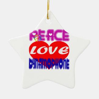 Amour Dynamophone de paix Ornements De Noël