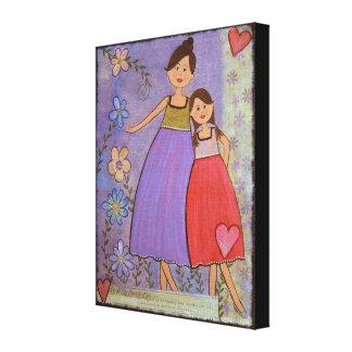 Amour et amitié - la fille de la mère 16x20 badine toiles