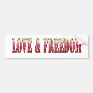 Amour et liberté autocollant de voiture