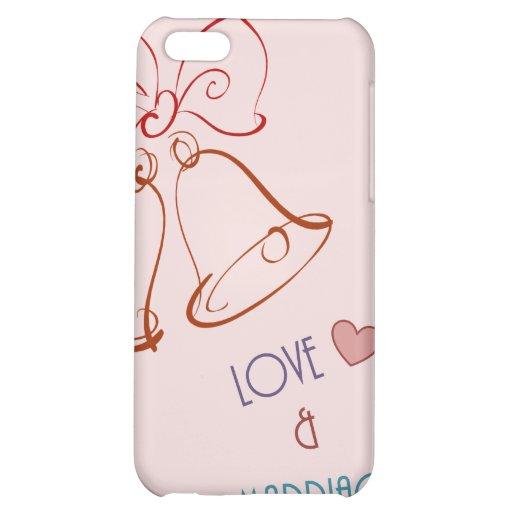 Amour et mariage coques pour iPhone 5C
