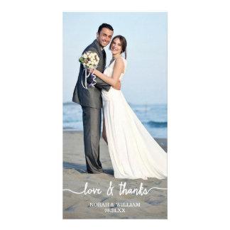 Amour et mercis épousant le carte photo de Merci Carte Avec Photo