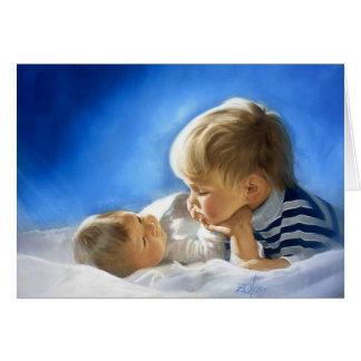 Amour fraternel carte de vœux