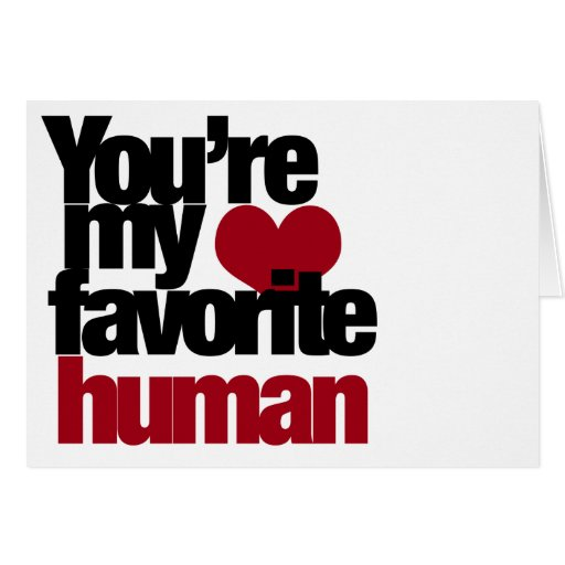Amour humain préféré carte