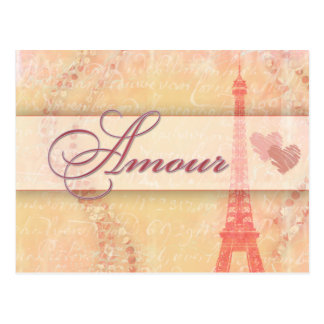 Amour in Paris Postcard