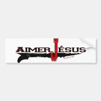 Amour le Christ édition en français de Jésus d Adhésifs Pour Voiture