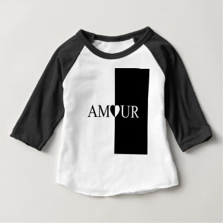 AMOUR Love Black And White Design Baby T-Shirt