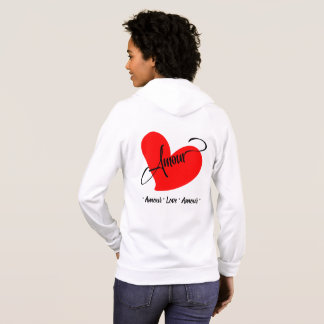 Amour (Love In French) Hoodie
