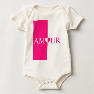 AMOUR Love Pink Design Baby Bodysuit