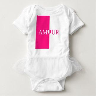 AMOUR Love Pink Design Baby Bodysuit