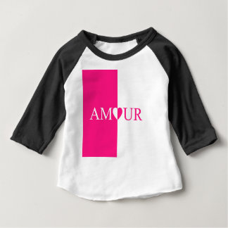 AMOUR Love Pink Design Baby T-Shirt