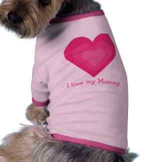 Amour personnalisable mignon d I mes coeurs de ros T-shirt Pour Chien