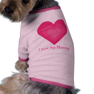 Amour personnalisable mignon d'I mes coeurs de ros Tee-shirts Pour Animaux Domestiques