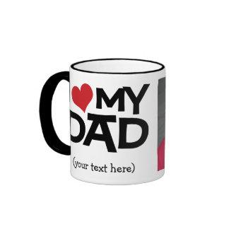 Amour personnalisé d I ma tasse de photo de papa