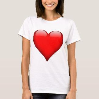Amour rouge de coeur t-shirt