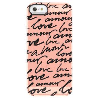 Amour Script Uncommon Permafrost® Deflector iPhone 5 Case