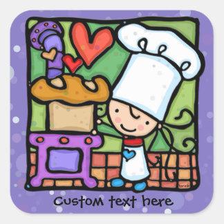Amours de chef de LittleGirlie pour faire le pain Sticker Carré
