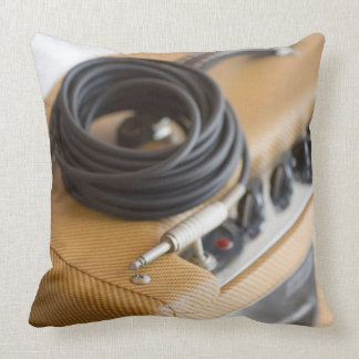 Amp and Cable Throw Pillow