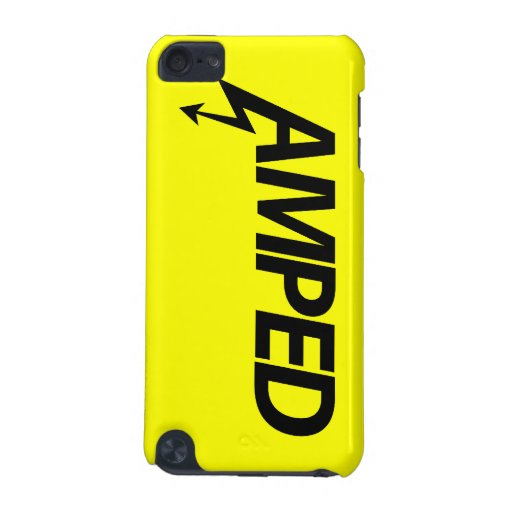 Amped (yellow on black) iPod touch (5th generation) case