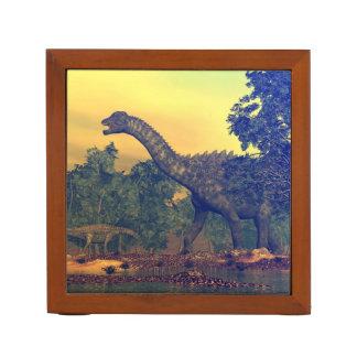 Ampelosaurus dinosaurs desk organizer