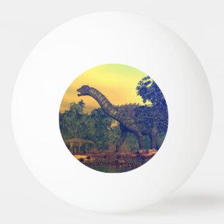 Ampelosaurus dinosaurs ping pong ball