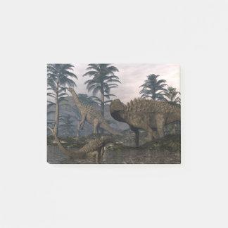 Ampelosaurus dinosaurs post-it notes