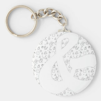 Ampersand Basic Round Button Keychain