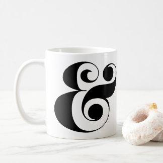 Ampersand Coffee Mug, Whimsical Font Coffee Mug