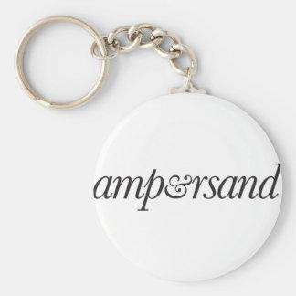 Ampersand Keychain