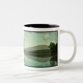 Ampersand Mountain at Round Lake (Middle Saranac) Two-Tone Coffee Mug
