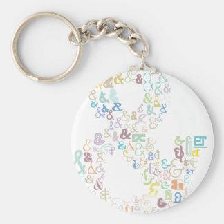 Ampersand pastels keychain