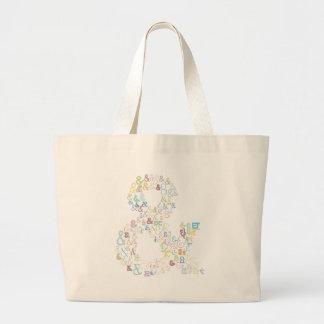 Ampersand pastels large tote bag