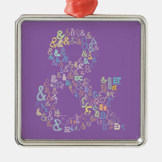 Ampersand pastels metal ornament