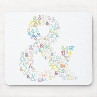 Ampersand pastels mouse pad