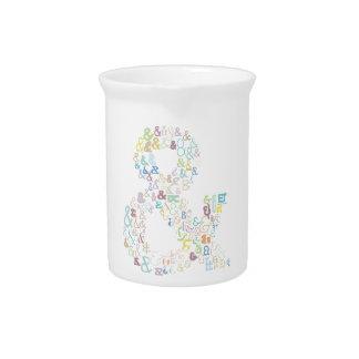 Ampersand pastels pitcher