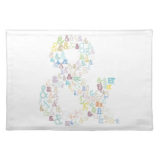 Ampersand pastels placemat