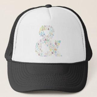Ampersand pastels trucker hat