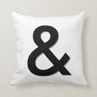 ampersand pillow black and white modern chic