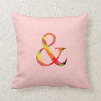 Ampersand Pillow Pink Red Floral Color And Symbol