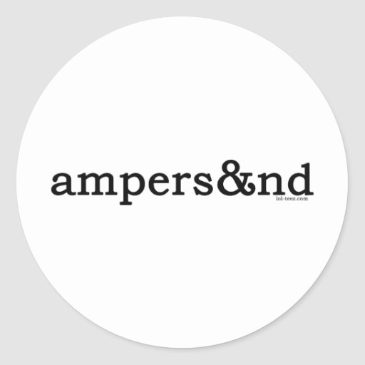 Ampersand Round Sticker