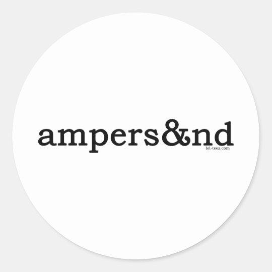 Ampersand Round Sticker