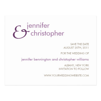 Ampersand :: Save the Date Postcard