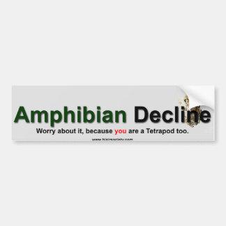 Amphibian Decline Bumper Sticker