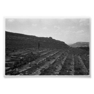 Amphitheater Limestone Quarry in the Crimea Photo Art