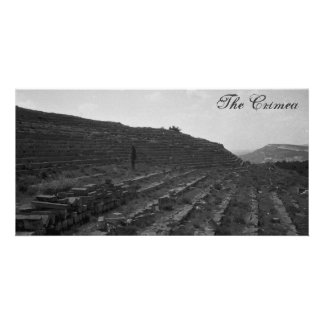 Amphitheater Limestone Quarry in the Crimea Photo Greeting Card